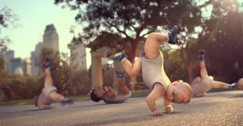 Evian - Skating Babies