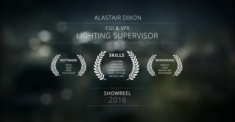 CGI & VFX Lighting Reel 2016