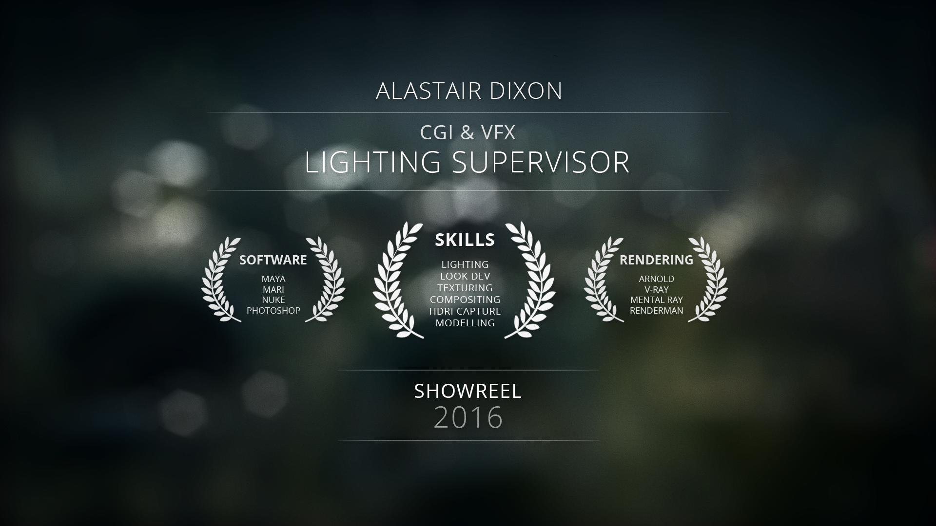 Cgi & vfx portfolio - cgi lighting supervisor / photographer / trailrunner.