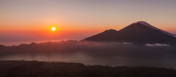 Sunrise from Mount Batur, Bali by alastairdixon