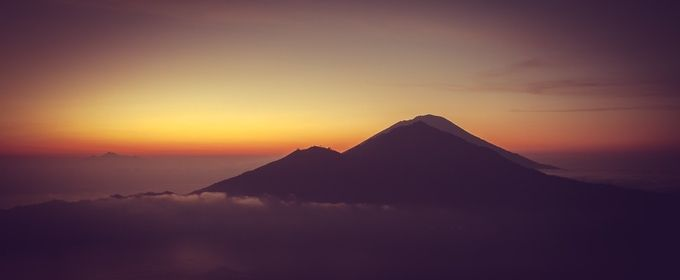 Atmospheric Sunrise from Mount Batur, Bali by alastairdixon